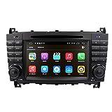 Android 10 OS Auto Multimedia Einheit 7 Zoll Kapazitiver Touchscreen Autoradio mit Spiegelverbindung BT WiFi 4G DSP SWC DAB + Fit für Benz C W203...