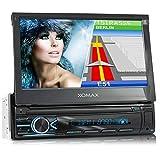 XOMAX XM-VN745 Autoradio mit Mirrorlink I GPS Navigation I Bluetooth I 7' / 18 cm Touchscreen Bildschirm I RDS, USB, AUX I Anschlüsse für...