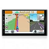 YUNTX Android 10.0 Doppel Din Autoradio mit navi - GPS 2 Din - Rückfahrkamera einbeziehen - 7 Zoll - Soutien DAB+ | Commande au Volant | 4G | WiFi |...