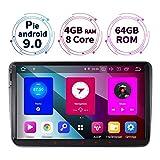 9 Zoll 4GB RAM+64GB ROM 8-Core Android 9.0 Autoradio für VW Passat B6 Touran Polo Golf V VI Skoda Fabia Radio mit Navi Unterstützt Bluetooth DAB+...
