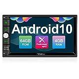 Vanku Android 10 Autoradio Radio mit Navi 64GB + 4GB Unterstützt Qualcomm Bluetooth 5.0 aptX DAB + Android Auto WiFi 4G USB MicroSD Doppel Din 7 Zoll...