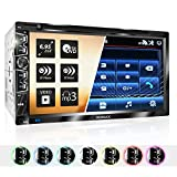 XOMAX XM-2D6907 Autoradio mit Mirrorlink für Android I kapazitiver 6,9' / 17,5 cm Touchscreen Bildschirm I DVD, CD, USB, SD, AUX I Bluetooth...