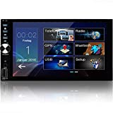 Tristan Auron BT2D7026 Autoradio mit Mirrorlink I GPS Navigation - Navi Software I 7 Zoll Touchscreen Bildschirm I Doppel Din I Bluetooth...