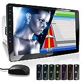 XOMAX XM-2VN1003 Autoradio mit verstellbarem XXL Touchscreen Bildschirm (10'/25 cm) I Mirrorlink I GPS Navigation I Bluetooth I Anschlüsse für...