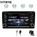 SWTNVIN Android 10.0 Auto Audio Stereo Kopfeinheit passt für Audi A3 DVD Player Radio 7 Zoll HD Touchscreen GPS Navigation mit Bluetooth WiFi...