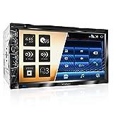 XOMAX XM-2D6907 Autoradio mit Mirrorlink für Android I kapazitiver 6,9' / 17,5 cm Touchscreen Bildschirm I DVD, CD, USB, SD, AUX I Bluetooth...