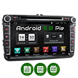 XOMAX XM-11GA Autoradio passend für VW, SEAT, Skoda mit Android 9.0 I 8 Zoll / 20,3 cm Touchscreen I GPS Navigation I DVD, CD, USB, SD I Support:...