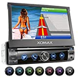 XOMAX XM-DN763 Autoradio mit Mirrorlink, GPS Navigation, Navi Software, Bluetooth Freisprecheinrichtung, 7 Zoll / 18cm Touchscreen Bildschirm, RDS,...