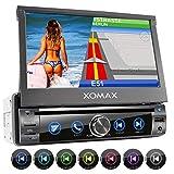 XOMAX XM-DN763 Autoradio mit Mirrorlink, GPS Navigation, Navi Software, Bluetooth Freisprecheinrichtung, 7 Zoll / 18cm Touchscreen Bildschirm, RDS,...