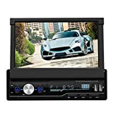 Vipxyc 7-Zoll Auto DVD/CD Player, Einziehbares Navigations Bluetooth Autoradio mit Rückfahrkamera Kit, MP5 Touchscreen Radio Player Unterstützt...