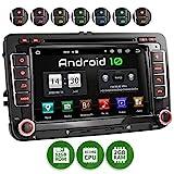 XOMAX XM-10GA Autoradio mit Android 10 passend für VW SEAT Skoda, 2GB RAM, 32GB ROM, GPS Navigation, DVD, CD, USB, SD I Support: WiFi 4G, DAB+, OBD2...