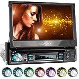 XOMAX XM-D749 Autoradio mit 18 cm / 7' Touchscreen I DVD, CD, USB, AUX I RDS I Bluetooth I Anschlüsse für Rückfahrkamera, Lenkradfernbedienung und...