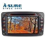 A-SURE 7' DVD GPS Autoradio für Mercedes Benz C-Class W203 S203 CLK-Class W209 C209 W639 Viano & Vito G-Class W463 Unterstützt Bluetooth DAB, USB,...