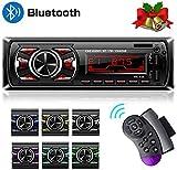 Hoidokly Autoradio mit Bluetooth Freisprecheinrichtung, 60W x 4 Single Din Universal Autoradio FM Empfänger Eingebautes Mikrofon, Universal MP3...