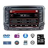 Stereo Home 7 Zoll 2 Din Autoradio Naviceiver für VW mit DVD CD GPS USB SD CANBUS FM AM RDS Video Bluetooth Lenkrad Bedienung Wince6.0 SWC 8GB Kart