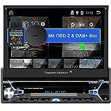 Tristan Auron BT1D7022A Android 10.0 Autoradio + OBD 2 und DAB+ Box I 7'' Touchscreen ausfahrbar I CD DVD GPS Navi 32GB Bluetooth...