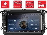 M.I.C. AV8V5-lite Android 9 Autoradio Radio Navigationssystem:DAB+ digitalradio Bluetooth WLAN 8 Zoll IPS Bildschirm 2G+32G USB sd GPS Tuning für VW...