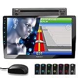 XOMAX XM-2DN1005 Autoradio mit DVD, CD, 10,1 Zoll / 25,7cm Touchscreen Bildschirm, Mirrorlink, GPS Navigation, Navi Software, Bluetooth...