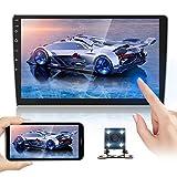 Doppel Din Autoradioempfänger 10,1 Zoll 2,5 D HD, Android 8,1 Touchscreen MP5 Multimedia, Unterstützung GPS-Navigation Bluetooth FM Radio + 4...