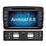 Ohok 7 Zoll Bildschirm 2 Din Autoradio Android 8.0.0 Oreo Radio mit Navi DVD GPS Navigation Unterstützt Bluetooth DAB+ für Mercedes-Benz C...