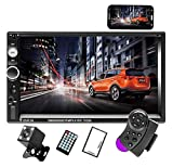 Camecho Doppel Din Auto Radio Audio Bluetooth Touch MP5 Player USB FM Android Telefon Spiegel Link Entertainment Multimedia Stereo + 4 LED Mini...