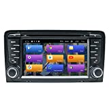BOOYES Für Audi A3 S3 RS3 Android 10.0 Doppel Din 7'Auto DVD-Player Multimedia GPS-Navigation Auto Radio Stereo Auto Auto Play/TPMS/OBD / 4G...