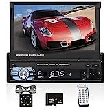 Podofo Autoradio mit Navi und Bluetooth, 1din GPS Radio mit Mirrorlink für Android, 7 Zoll Touchscreen Bildschirm Digital Media Receiver mit...