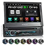 XOMAX XM-DA755 Autoradio mit Android 8.1, QuadCore, 2GB RAM, 16GB ROM, GPS Navigation, DVD, CD I Support: WiFi WLAN, 3G 4G, DAB+, OBD2 I Bluetooth, 7...