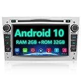 AWESAFE Android 10 Autoradio für Opel 2DIN Radio mit Navi, unterstützt DAB+ WiFi CD DVD Bluetooth MirrorLink 7 Zoll Bildschirm RDS Radio - Silber
