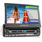 XOMAX XM-DN776 Autoradio mit Mirrorlink, GPS Navigation, Navi Software, Bluetooth Freisprecheinrichtung, 7 Zoll / 18cm Touchscreen Bildschirm, RDS,...
