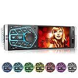 XOMAX XM-V418 Autoradio mit 4.1' / 10 cm Bildschirm I Bluetooth Freisprecheinrichtung | USB, SD, AUX | RDS | Anschlüsse für Rückfahrkamera und...