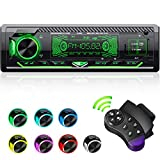 CENXINY Autoradio mit Bluetooth Freisprecheinrichtung, 7 Farben Licht Einstellbar 1 Din Autoradio Bluetooth mit USB*2/AUX/TF, MP3 Player/FM Autoradio...