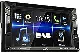 JVC KW-V235DBT DAB+ / DVD-/CD-/USB-Receiver mit integrierter Bluetooth-Technologie und 15,7 cm (6,2 Zoll) Touch-Panel mit VGA-Auflösung schwarz