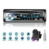 Lifelf Autoradio mit Bluetooth Freisprecheinrichtung, 65W*4 Bluetooth Autoradio 1 Din mit Lenkrad-Fernbedienung, FM/AM/MP3-Player/2*USB/TF/AUX...