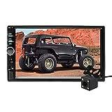 Aigoss Autoradio mit Bluetooth Freisprecheinrichtung,2 Din 7' Touchscreen Freisprech Radio MP5 Player mit Rückfahrkamera,...