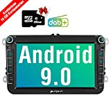 PUMPKIN Android 9.0 Autoradio für VW Radio mit Navi 16GB Europakarten/Integriertes DAB + Modul Unterstützt Bluetooth USB WiFi 4G MicroSD 8 Zoll...