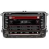 NVGOTEV Autoradio mit Navigationssystem ist kompatibel mit VW Golf, 2 Din Radio mit 7 Zoll Touchscreen Monitor, unterstützt Lenkradsteuerung...