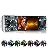 XOMAX XM-V417 Autoradio mit 4.1' / 10 cm Bildschirm I Bluetooth Freisprecheinrichtung I USB, SD, AUX I RDS I Anschlüsse für Rückfahrkamera und...
