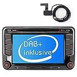 Built-in DAB+ Autolink Autoradio mit Navigation 7' 2DIN Auto DVD Player Stereo für VW Passat B6 Golf V VI 5 6 Polo cc Tiguan Touran EOS Scirocco...