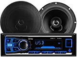 BOSS AUDIO 636CK Audiopaket mit 610UA Single-DIN AM / FM / MP3 / USB / SD Player Autoradio 200 Watt und ein Paar CK65 6.5' Zoll 2-Wege-Full-Range...