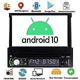 Single Din Autoradio Android GPS 1 Din Autoradio Bluetooth 7-Zoll-Flip Out-Screen-DVD-Player für Universal-Steuergerät 1 GB + 32GB mit WiFi...