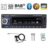 Bosszi HiFi-Klangqualität RDS/DAB/DAB + Autoradio Digital Audio Autoradio mit Bluetooth Freisprechfunktion/BT+USB+TF Karte+AUX Wiedergabe, FM/AM...
