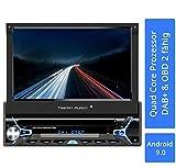 Tristan Auron BT1D7022A Autoradio mit Android 9.0 I 7'' Touchscreen Bildschirm, GPS Navigation, Bluetooth Freisprecheinrichtung, Quad Core Prozessor,...