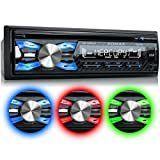 XOMAX XM-CDB619 Autoradio mit CD-Player + Bluetooth-Freisprecheinrichtung & Musikwiedergabe + 3 Farben einstellbar (Rot, Blau, Grün) + USB-Anschluss...