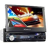 XOMAX XM-DTSBN933 Autoradio mit GPS Navigation I Bluetooth I 18 cm / 7' Touchscreen Bildschirm I DVD, CD, USB, SD, AUX I Anschlüsse für...