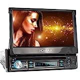 XOMAX XM-D749 Autoradio mit 18 cm / 7' Touchscreen I DVD, CD, USB, AUX I RDS I Bluetooth I Anschlüsse für Front- und Rückfahrkamera,...