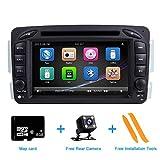 ZLTOOPAI für Mercedes Benz W209 W203 W168 W163 W463 Viano W639 Vito Vaneo-Serie Doppel-Din-Head-Einheit 7-Zoll Screen Autoradio GPS Radio mit...