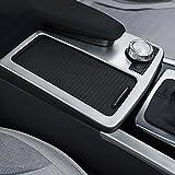 DIYUCAR Für C-Klasse W204 2008-2014 Auto ABS Matt Silber Mittelkonsole Getränkehalter Rahmenverkleidung
