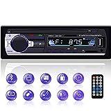 Autoradio Bluetooth, YYKJ 1 DIN Autoradio Audio, Single Din Car FM Radio Head Unit Unterstützung EQ / USB / TF / SD / AUX Audio Receiver +...