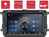 M.I.C. AV8V5 Android 9 Autoradio Radio Navigationssystem:DAB+ digitalradio Bluetooth WLAN 8 Zoll IPS Bildschirm 4G+32G USB sd GPS Tuning Gerät für...